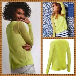 New Cabi neon bright yellow pullover knit Sweater